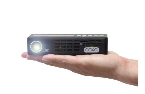 AAXA P4-X LED Portable Pico Projector, 125 Lumens, Li-Ion battery, Media Player, 20,000 Hour LED Life, Pocket Size, DLP