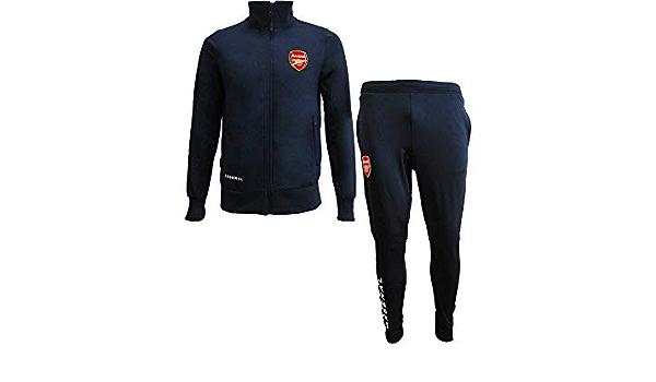 r/éplica original con licencia oficial Gunners Ch/ándal completo de pantal/ón y chaqueta