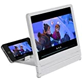 Storite Mobile Phone Screen Magnifier Bracket Enlarge Stand For iPhone 5 5S 5C 4 Samsung Galaxy S5 S4 S3 (WHITE)