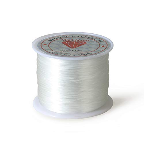 1mm Elastic Stretch Crystal String Cord for Jewelry Making Bracelet Beading Thread 60m/roll