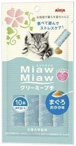 (まとめ)MiawMiaw クリーミープチ まぐろおかか味 10本 (ペット用品・猫フード)【×48セット】 〈簡易梱包