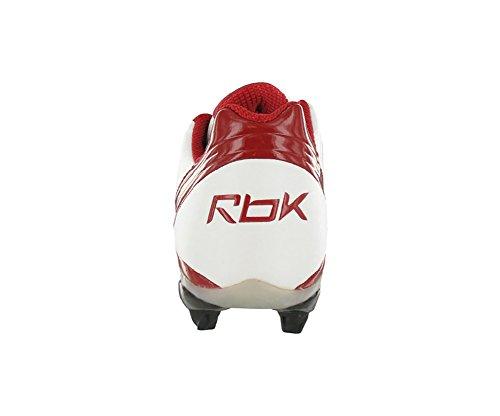 Reebok Pro Brander Snelheid Laag Sd3 Heren Schoenplaatjes Wit / Rood-promo