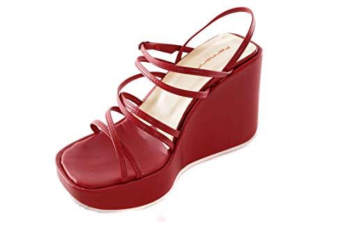 Femme Sandales Fornarina Rouge Compensées Plateau U4x0wZ