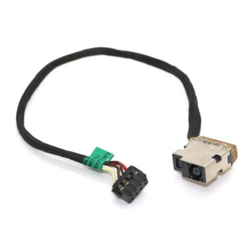 DNX Connecteur de Charge et d'alimentation Compatible pour PC Portable HP Pavilion 17-e047sf, avec Câ ble, DC in Jack Power, Note-X avec Câble
