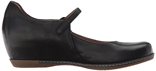 Loralie Nubuck Flat Jane Black Mary Burnished Women's Dansko wxqv5