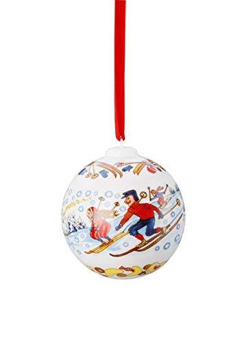 Hutschenreuther Porcelain Christmas Ball 2018, Winter Pleasures, Porzellan Weihnachtskugel Kugel 2018
