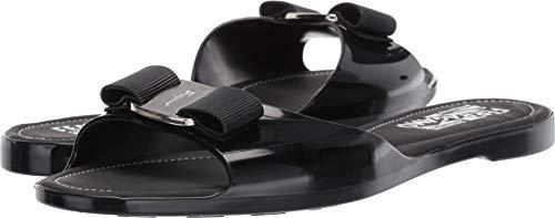 (Salvatore Ferragamo Women's Cirella Slider Sandal Nero Tomaio Compa 7 C US)