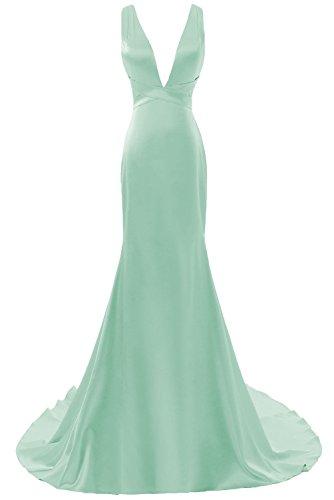 Prom Formali Mermiad Dress Lunga Menta Scollatura Precipitare Delle Serata Dis Donne Abiti XFgTqwTRU