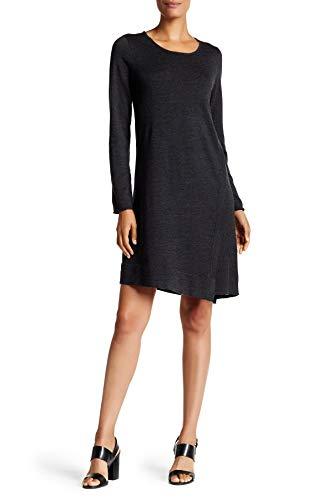 Eileen Fisher Women's Merino Wool Jewel Neck Dress, Charcoal, Size Large ()