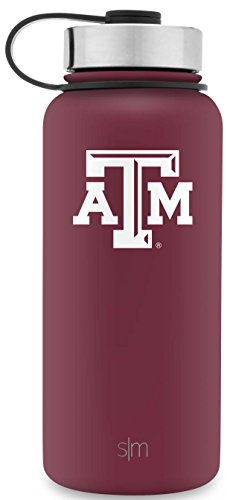 Simple Modern 32oz Summit Water Bottle - Texas A&M Aggies Vacuum Insulated 18/8 Stainless Steel Travel Mug - Texas A&M
