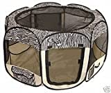 Large Zebra Pet Tent Exercise Pen