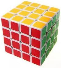 GOLD LEAF Sticker Less Magic Cube Speed Cube (4 X 4 X 4 ,Multicolor)