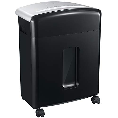 Bonsaii 12-Sheet High-Security Micro-Cut Paper and Credit Card Shredder with 5.3 Gallons Pullout Basket, Black (C221-B)