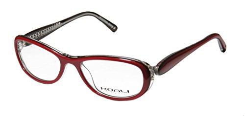 Koali 7183k Womens/Ladies Rx-able High-class Designer Full-rim Eyeglasses/Spectacles (51-16-130, Red / Clear)
