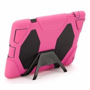 Griffin Survivor Extreme-Duty Military Case for the iPad 4/3/2, Pink/Black (GB35379)