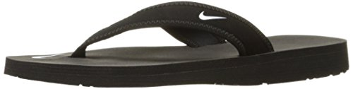Nike Womens Celso Thong Flip Flops Open Toe Shoes (9, Black)