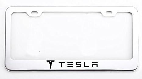 Amazon.com: Deselen Stainless Steel License Plate Frame for Tesla ...