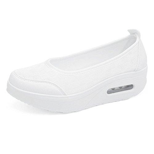 Damen Weiß Frauen Mädchen Sportschuhe Schuhe Shake PE Sneaker Fitness Turnschuhe rwaxrFznAq