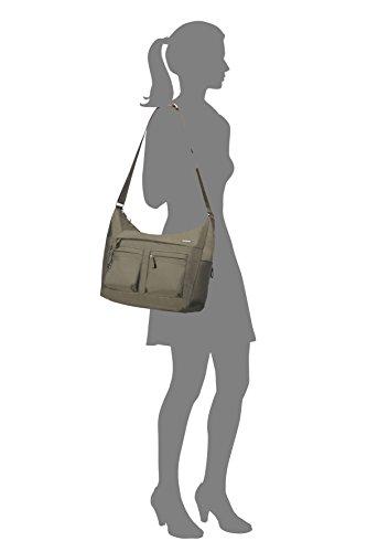 Samsonite Move 2 Shoulder Bag L + 2 Pock Borsa Messenger, 35 cm, Silver Green