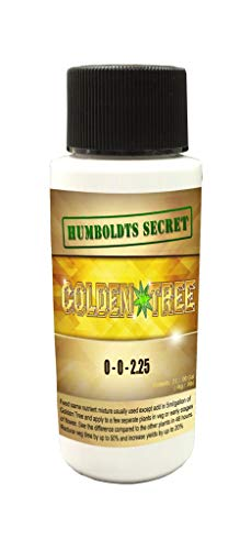 Humboldts Secret Best Plant Food For Plants and Trees Golden Tree, Explosive Growth, Yield Increaser, Dying Plant Rescuer, Use on Flowers, Roses, Fruit, Vegetables, Tomatoes, Organic (2 Ounce) (Spikes Plant Fertilizer)