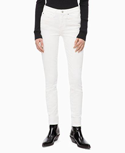 Calvin Klein Women's Mid Rise Skinny Fit Jeans, Miami White, 28W X ()