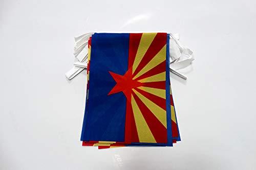 AZ FLAG Arizona 6 Meters Bunting Flag 20 Flags 9'' x 6'' - US State of Arizona String Flags 15 x 21 cm
