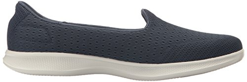 Performance Lite Go Shoe Slip Skechers On Women's Gray Navy Step Walking 6RqfxdI