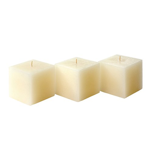 Vanilla Square Pillar (Candle Atelier 'Vanillaberry'-Scented, Classic Ivory 3