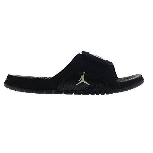Nike Jordan Men's Hydro XII Retro Black/Mtlc Gold Star/Black Sandal 10 Men US