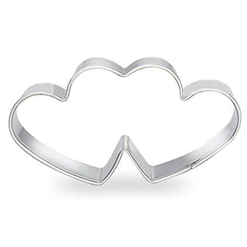 WJSYSHOP Double Hearts Shape Cookie Cutter
