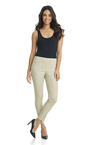 Rekucci Women's Ease in to Comfort Slim Ankle Pant with Snaps ()