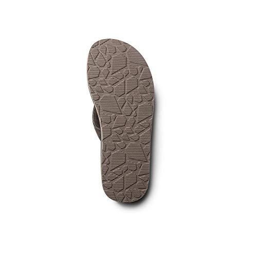 5bb6185967beb Amazon.com  Volcom Men s Fathom Synthetic Leather Flip Flop Sandal  Shoes