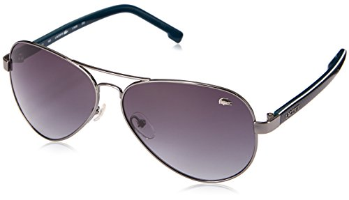 Lacoste Men's L163S Aviator Sunglasses, Grey, 62 - Women Lacoste For Sunglasses