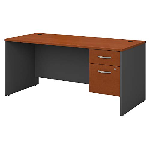 (Bush Business Furniture Series C 66W X 30D Desk Shell with 3/4 Pedestal in Auburn Maple)