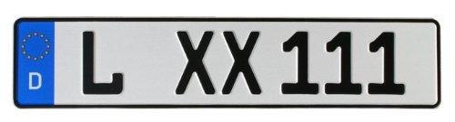 KFZ-Kennzeichen EU 520 x 110 mm, reflektierend, Autoschilder mit Wunschkennzeichen