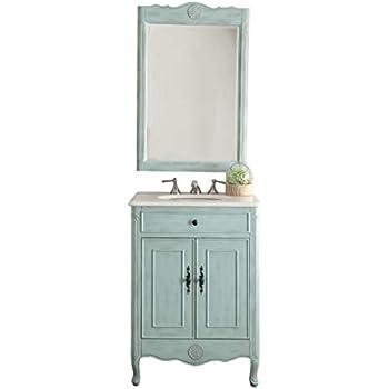 Surprising 26 Cottage Style Pastel Light Blue Daleville Bathroom Sink Vanity Mirror Set Model 838Lb Mir Home Interior And Landscaping Ologienasavecom