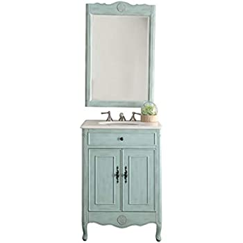Incredible 26 Cottage Style Pastel Light Blue Daleville Bathroom Sink Vanity Mirror Set Model 838Lb Mir Download Free Architecture Designs Jebrpmadebymaigaardcom