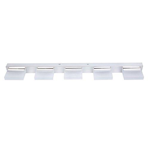 Lightess Modern LED Bathroom Light Fixtures Crystal Bath Vanity Mirror Sconces, Cool White (15W) (Crystal Bath Fixture)