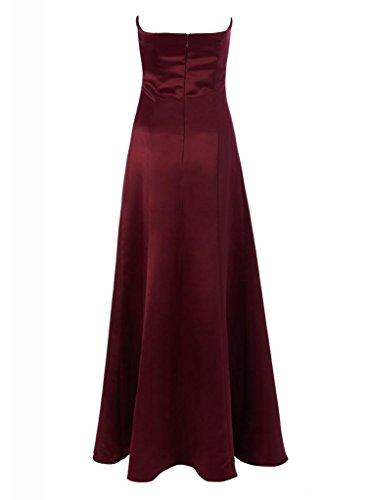 tief Abendkleid Langes Brautjungfer Satin BRIDE Wein Kleid Formale GEORGE Liebsten elegante Ballkleid wqAvag7p