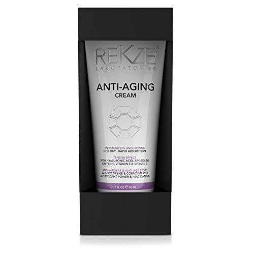 REKZE Anti-Aging Cream Clinically Proven For Men & Women, Anti Wrinkle & Age Spots Moisturizing & Firming Skin Care For Day & Night, Not Oily, Rapid Absorption, Tensor Effect For Eye, Face, Neck ()