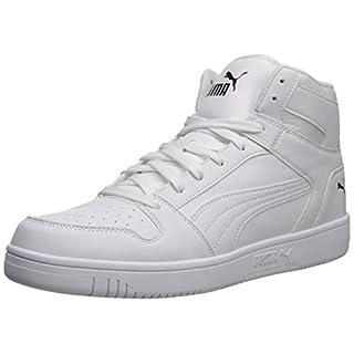PUMA Rebound Layup Shoe, White Black, 7.5 M US