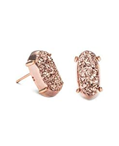 Kendra Scott Betty Earrings in Rose Gold and Rose Gold Drusy