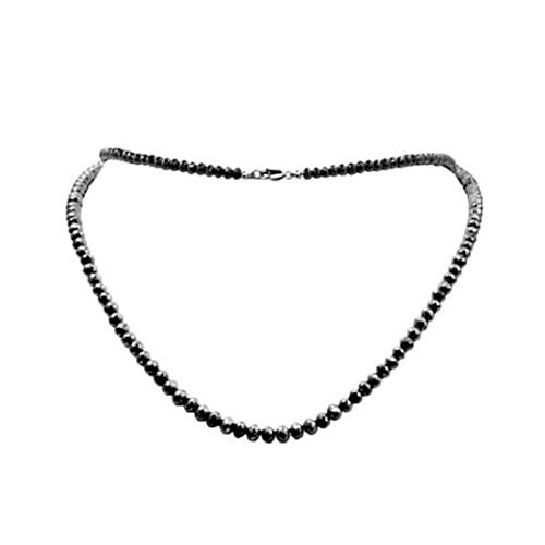 Barishh 100 Cts. Black Diamonds Necklace-5mm Beads.Certified.AAA. Very Beautiful by Barishh
