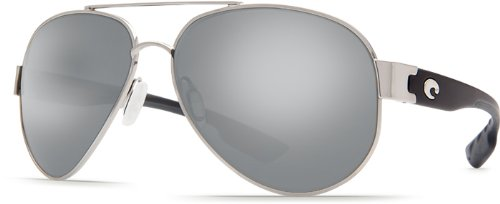 Costa Del Mar South Pt. 580G South Pt., Palladium Silver, Silver - Sunglasses Point Costa South
