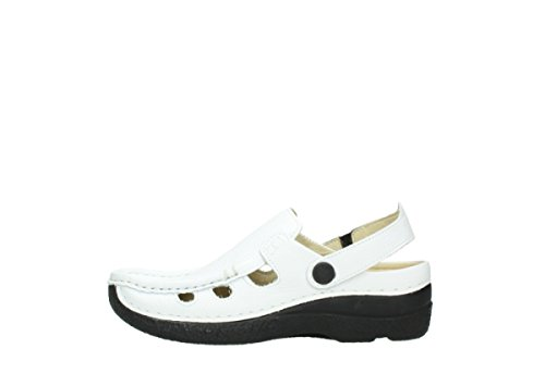 Wolky Comfort Sandals 06220 Roll Multi 70100 White Printed Leather GgXIQmW