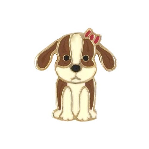 Bellina ME ❤ Beagle Dog Lover Enamel Handmade Brooch Lapel Pin Lucky Personal Collectible Collection Charm Pin (Dog)
