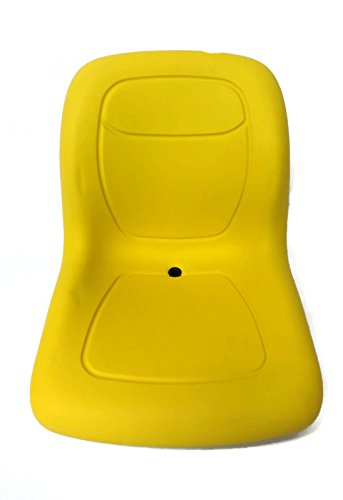 The ROP Shop Yellow HIGH Back SEAT w/Pivot Rod Bracket for John Deere 445 455 SST16 SST18 by The ROP Shop (Image #2)