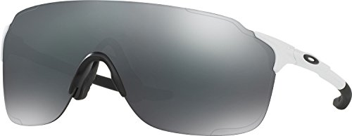 Oakley Men's Evzero Stride Non-Polarized Iridium Rectangular Sunglasses, Polished White, 38 - Black Oakley White Polished Iridium