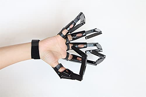 Articulated Finger Extensions Halloween, Skeleton Gloves 3D Printed Articulated Finger Extensions with Flexible Joints Cosplay Claws Extender Wearable Scary Skeleton Bone Claw Hand Reaper Gloves