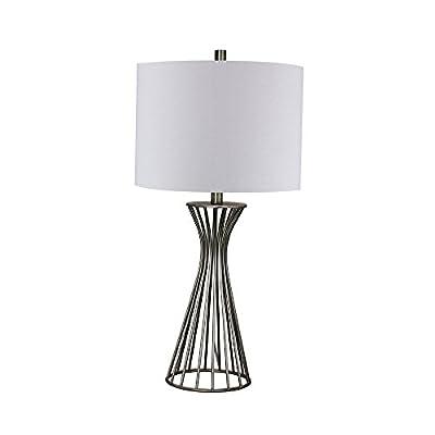 "Fangio Lighting W-1515CG Metal Table Lamp, 28.5"", Champagne Gold"
